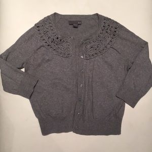 Forever 21 Gray Cropped Cardigan